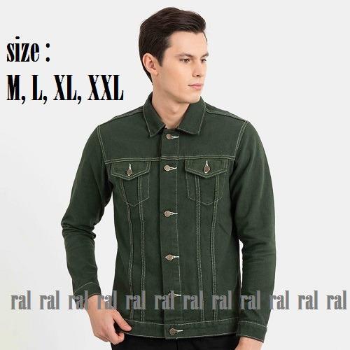 RAL - jaket jeans denim green (hijau) premium / BEST SELLER