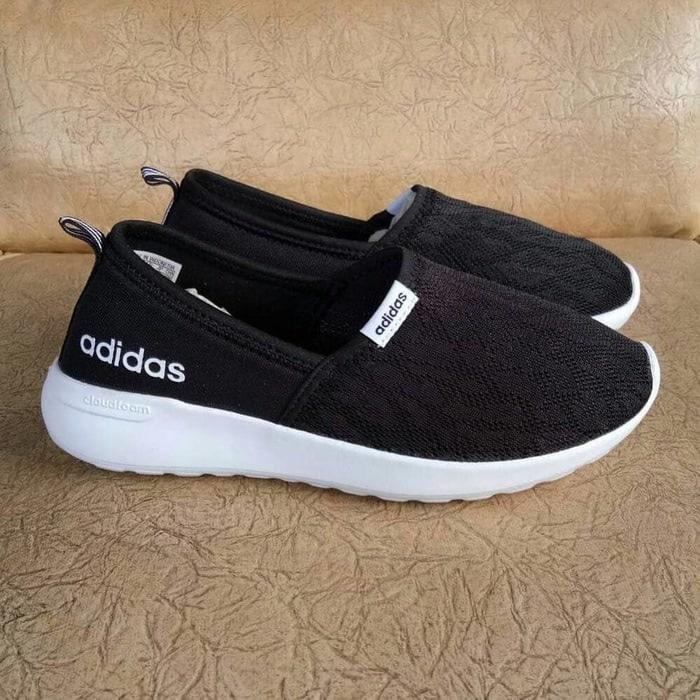 Sepatu Keren Adidas ORIGINAL Cloudfoam Slip On Black
