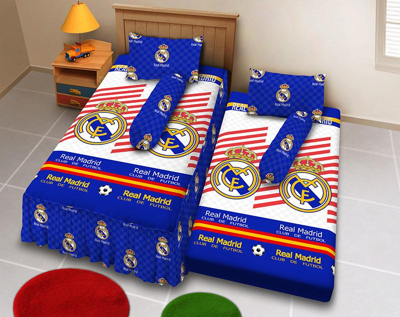Kintakun D'luxe Sprei 2in1 - 120 x 200 (Single) - Real Madrid 2017