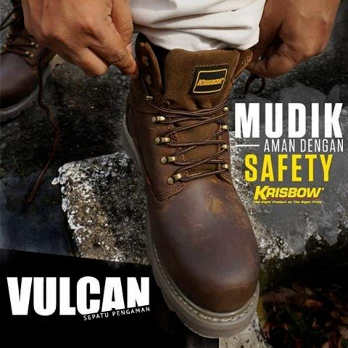 Sepatu Safety Krisbow Vulcan Brown Ukuran 39 40 41 42 43 44 45
