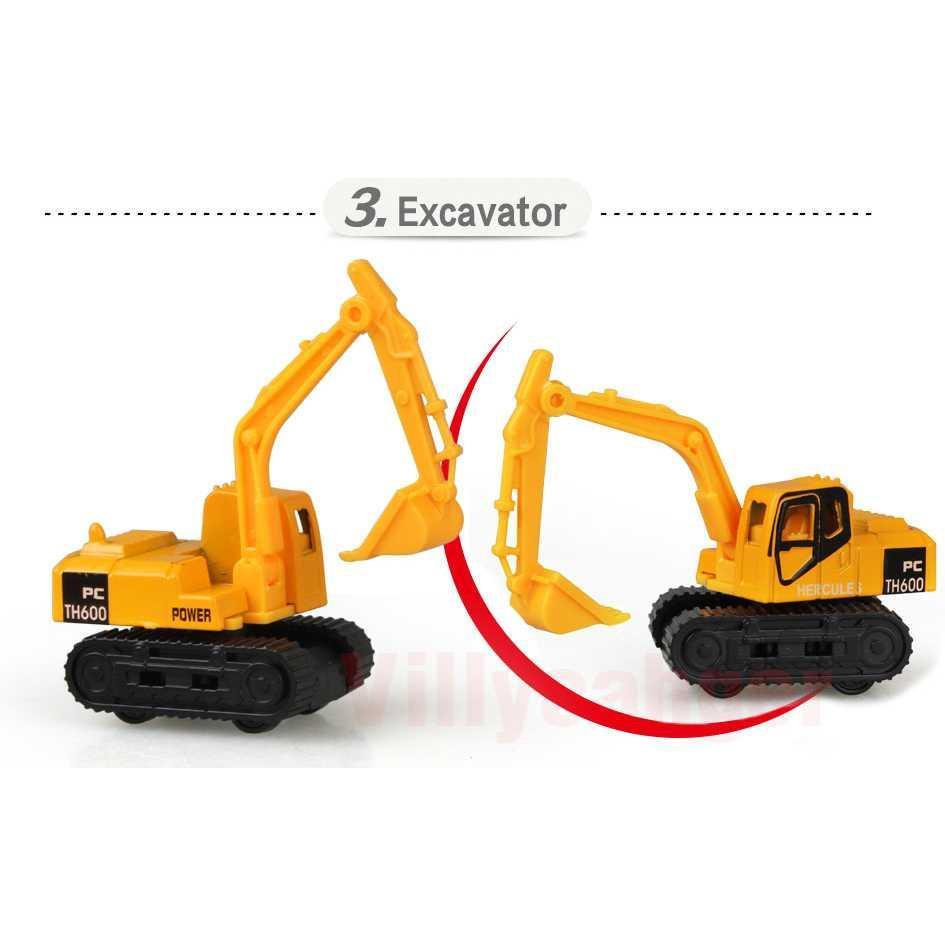 Eigia Mainan Mobil-Mobilan Truck Konstruksi Diecast Anak 6PCS Kids Toy Car .