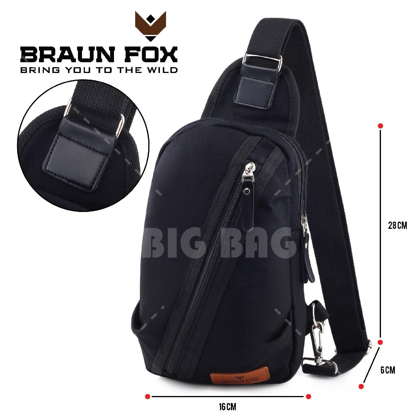 Tas Selempang Braun Fox Phillomon - Fashion Men and Women Messenger Bag Casual Shoulder Canvas Chest