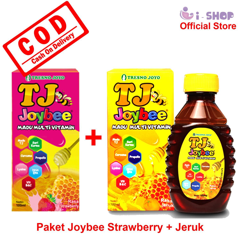 i-shop Madu TJ Joybee 100 gr Paket 2 Botol (Strawberry + Jeruk)