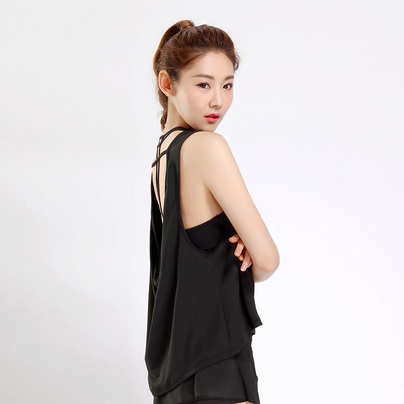 Kebugaran Korea Fashion Style Slim Huruf Tipis Ayat Pendek ... -. Source · Pakaian Yoga Korea Modis Gaya Warna Polos Kebugaran Rompi (Putih-BX005)