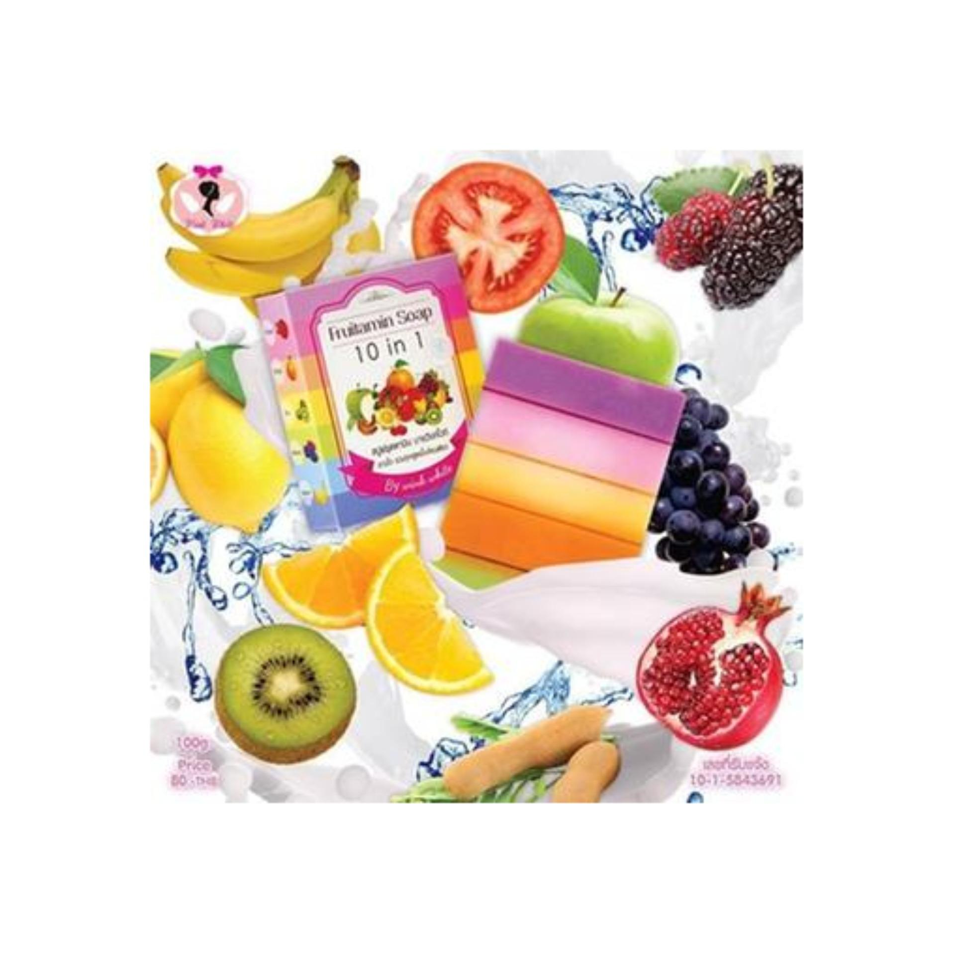Spek Best Seller Sabun Pemutih Fruitamin Soap 10In1 By Wink White Original Thailand
