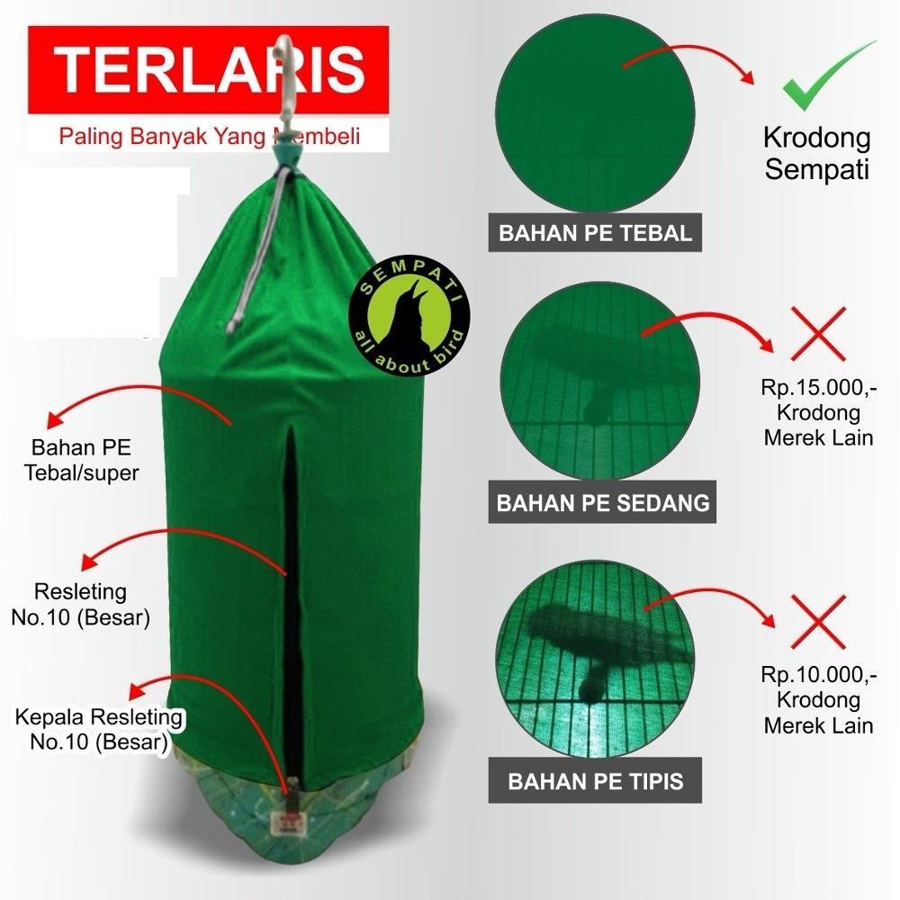 KRODONG KERODONG SANGKAR BURUNG LOVEBIRD MEREK SEMPATI -2 PCS