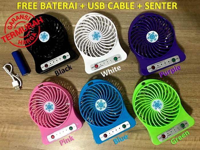 Mini Fan baterai bulat - Kipas Angin Mini Portable Rechargeable