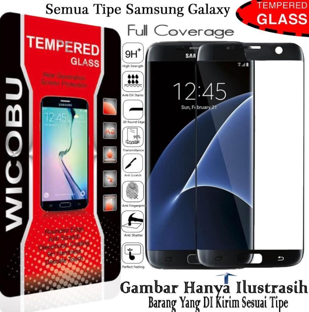 FULL Wicobu Samsung Galaxy A7 2017 Premium Tempered Super Glass - hitam