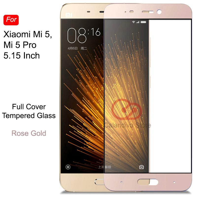 ONE-X Full Cover Tempered Glass for Xiaomi Mi 5 / Mi 5 Pro - Rose Gold