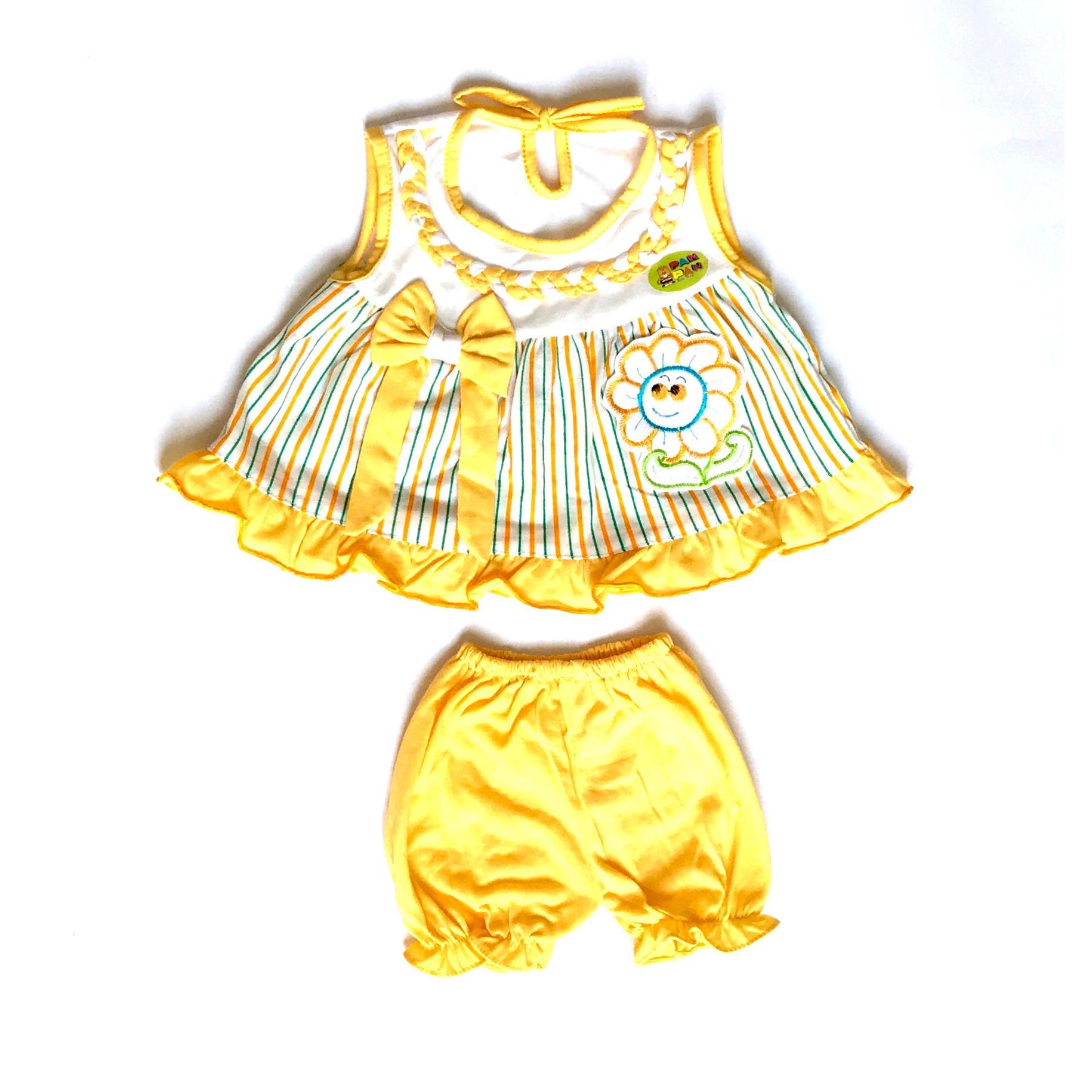 BAYIe - Setelan Baju bayi Perempuan KUTUNG motif BUNGA PAN_PAN usia 3-12 bulan /