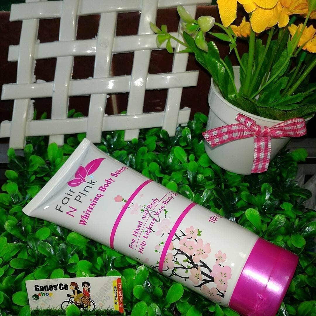 Serum Pemutih Tubuh Fair N Pink Original 160 Ml 2 Tube Daftar Badan Body 160ml Source Ganes Bpom
