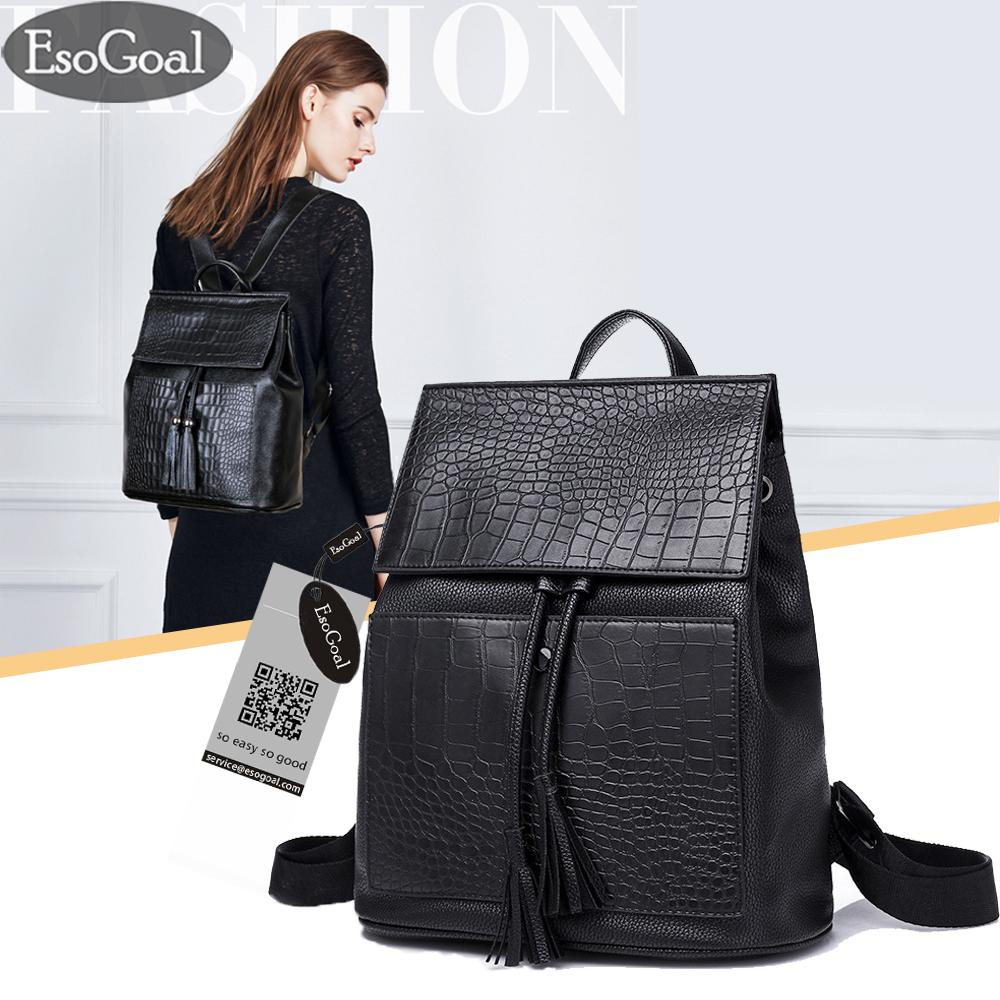 Jual Esogoal Women S Pu Leather Backpack Purse Mulifunction Ladies Casual Shoulder Bag Daypack For Ladies Esogoal Di Tiongkok