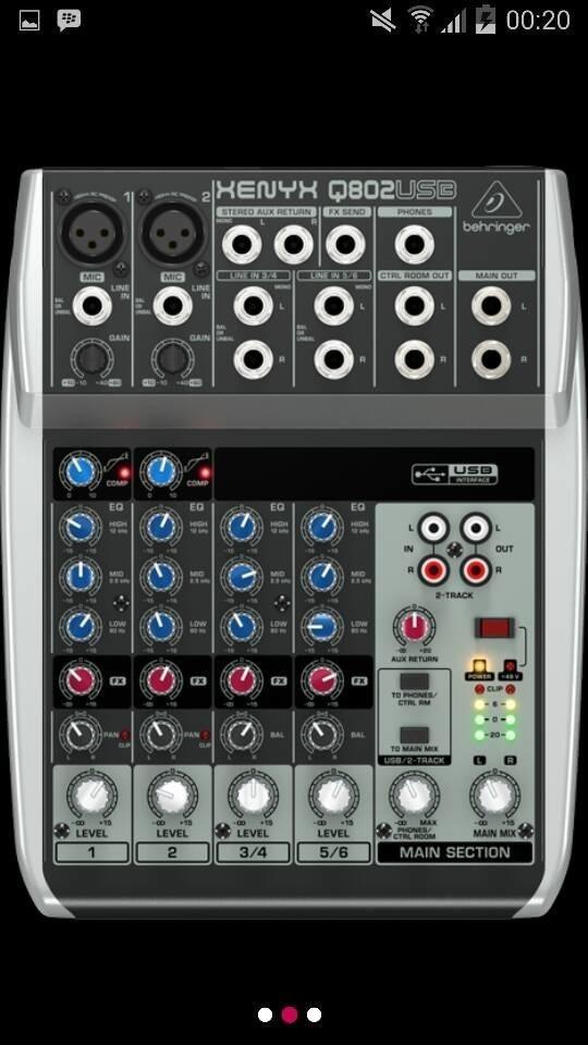 ORIGINAL  Mixer Behringer XENYX Q 802 USB ( 6 channel )