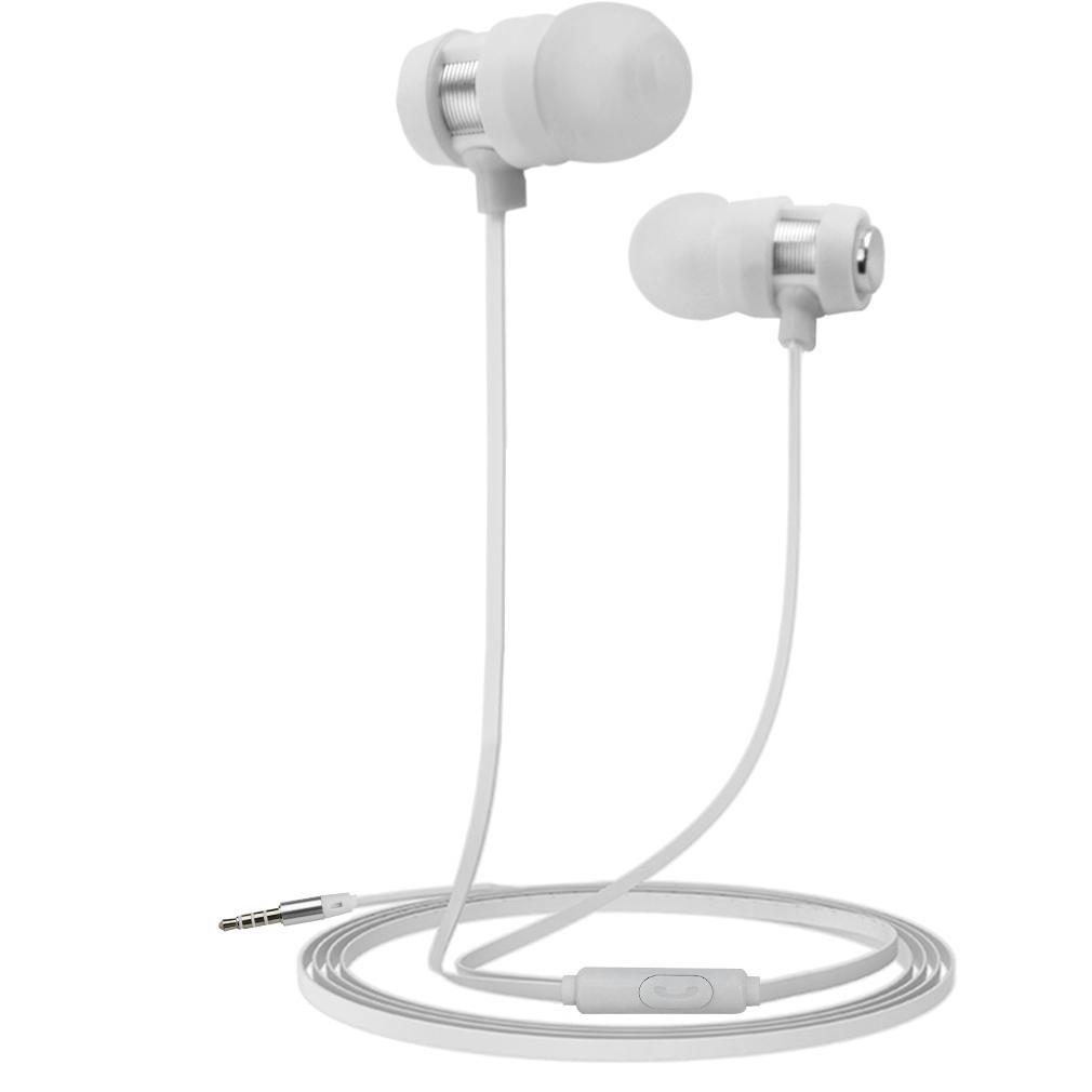 QNSTAR E600 Metal Bass Headset 3.5mm Headphone Universal For Phone In-Ear Earphones