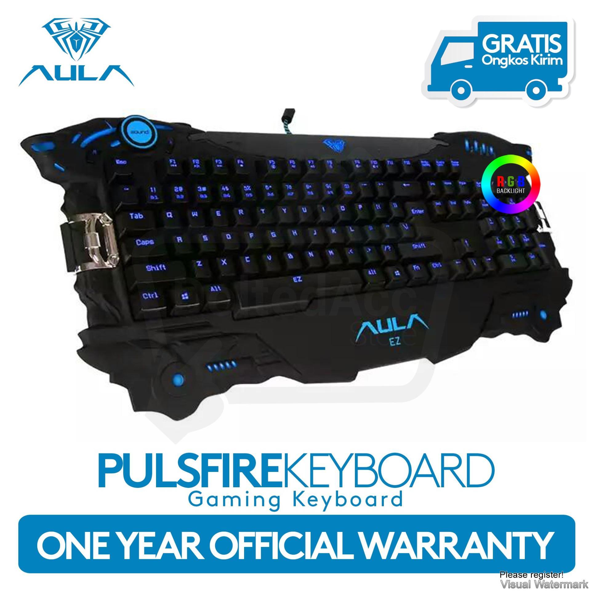Kelebihan Aula Pulsefire Gaming Keyboard Plunger Semi Mechanical Rexus Kx1 Backlight Blue Led Hitam 2