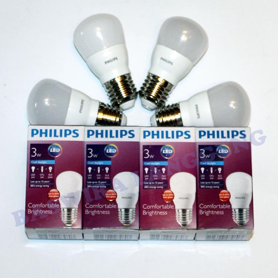 Kehebatan Philips Lampu Led 4 Watt Cool Daylight Pcs Dan Harga Ledbulb 13 100w E27 3000k 230v Kuning Bulb 3 W 3wat 3w Putih Paket