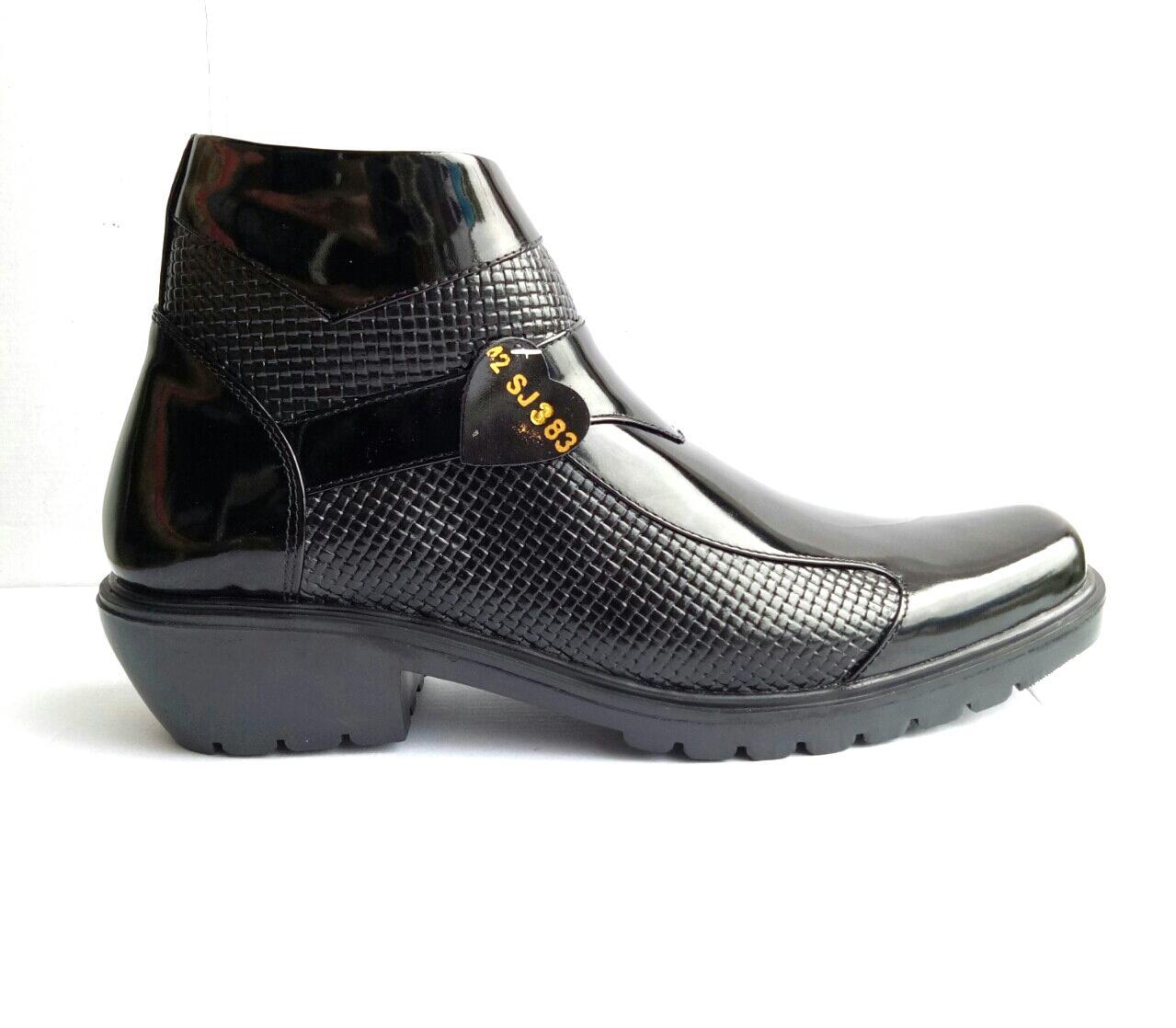 mandiens sepatu boots jenggel kulit asli original medali pdh k.383 export quality