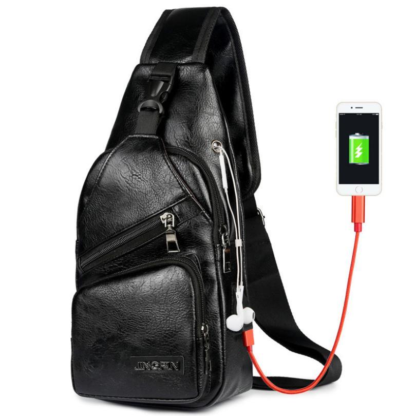 tas selempang b305 pria bahan kulit import sling bag