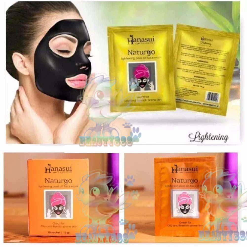 Hanasui Naturgo BPOM Masker Lumpur Hitam / Black Mask (BPOM) 10 Sachet / Masker Lumpur Hitam 100% Original -1 Box - Hitam