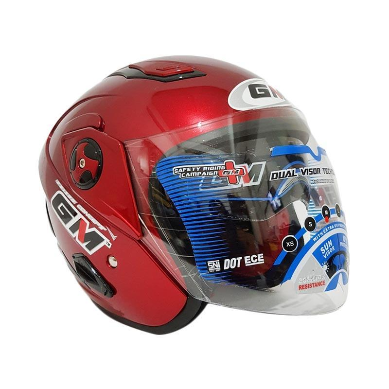 c6bea162 Review Helm Gm Interceptor Solid Double Visor Halfface Dan Harga ...