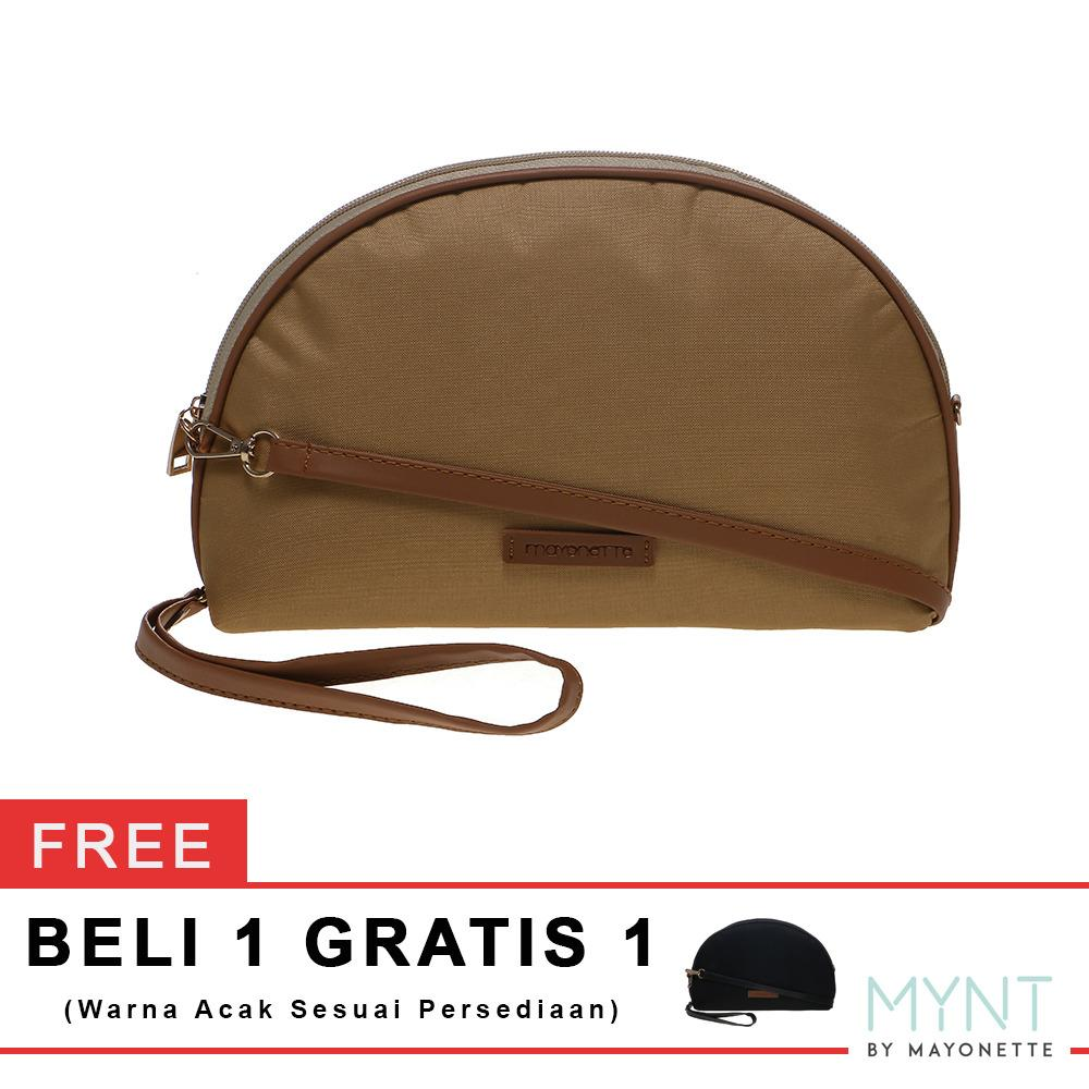Promo Mynt By Mayonette Buy 1 Get 1 Tas Wanita Korean Style Clutch Pouch Basic Manse Canvas Cream Murah
