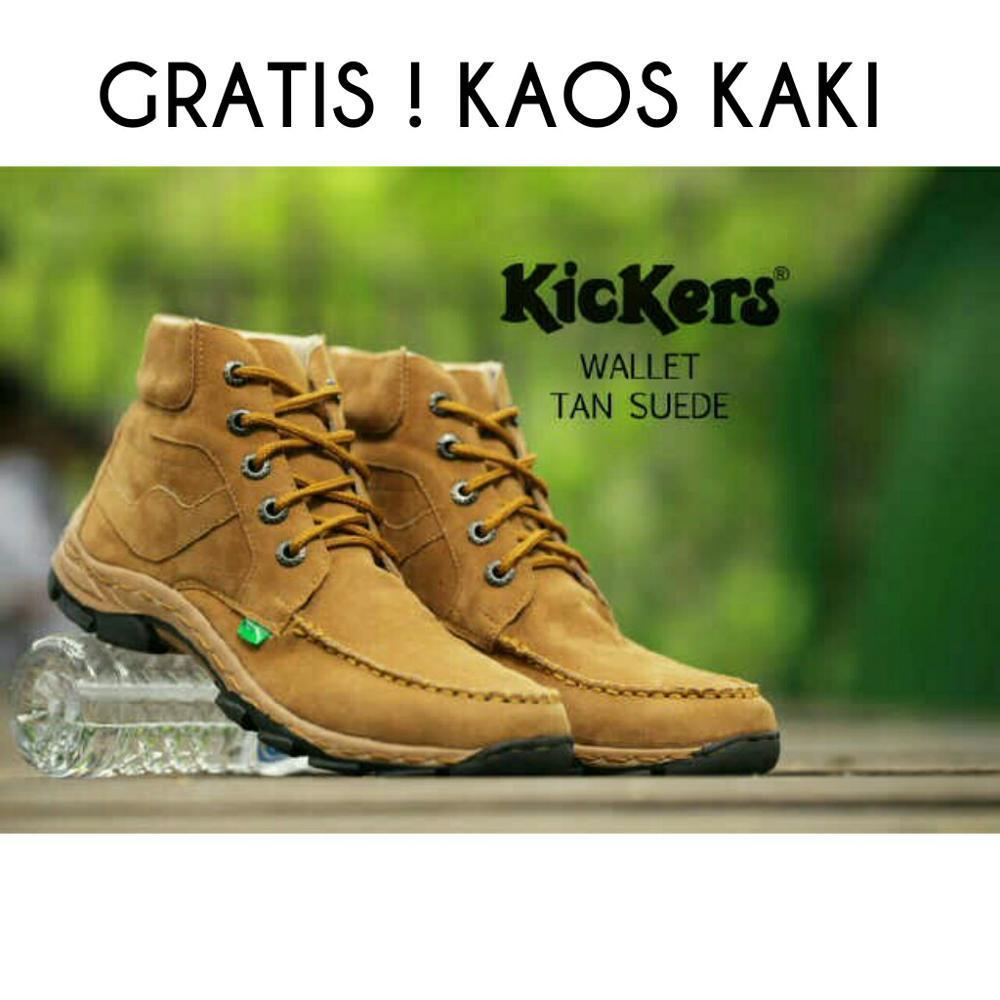 Sepatu Boots Kickers Wallet Safety - Sepatu Hiking - Sepatu Proyek-Caterpillar-Sepatu Delta- Ciarmy -Pdl - Tni - Polri