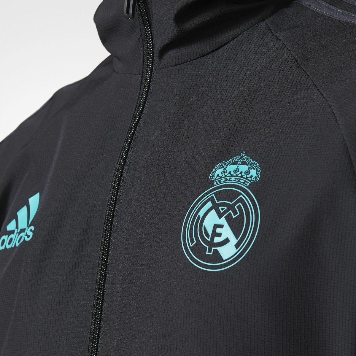 Adidas jaket Real Madrid Presentation Jacket - BQ7867 - hitam - 4 .