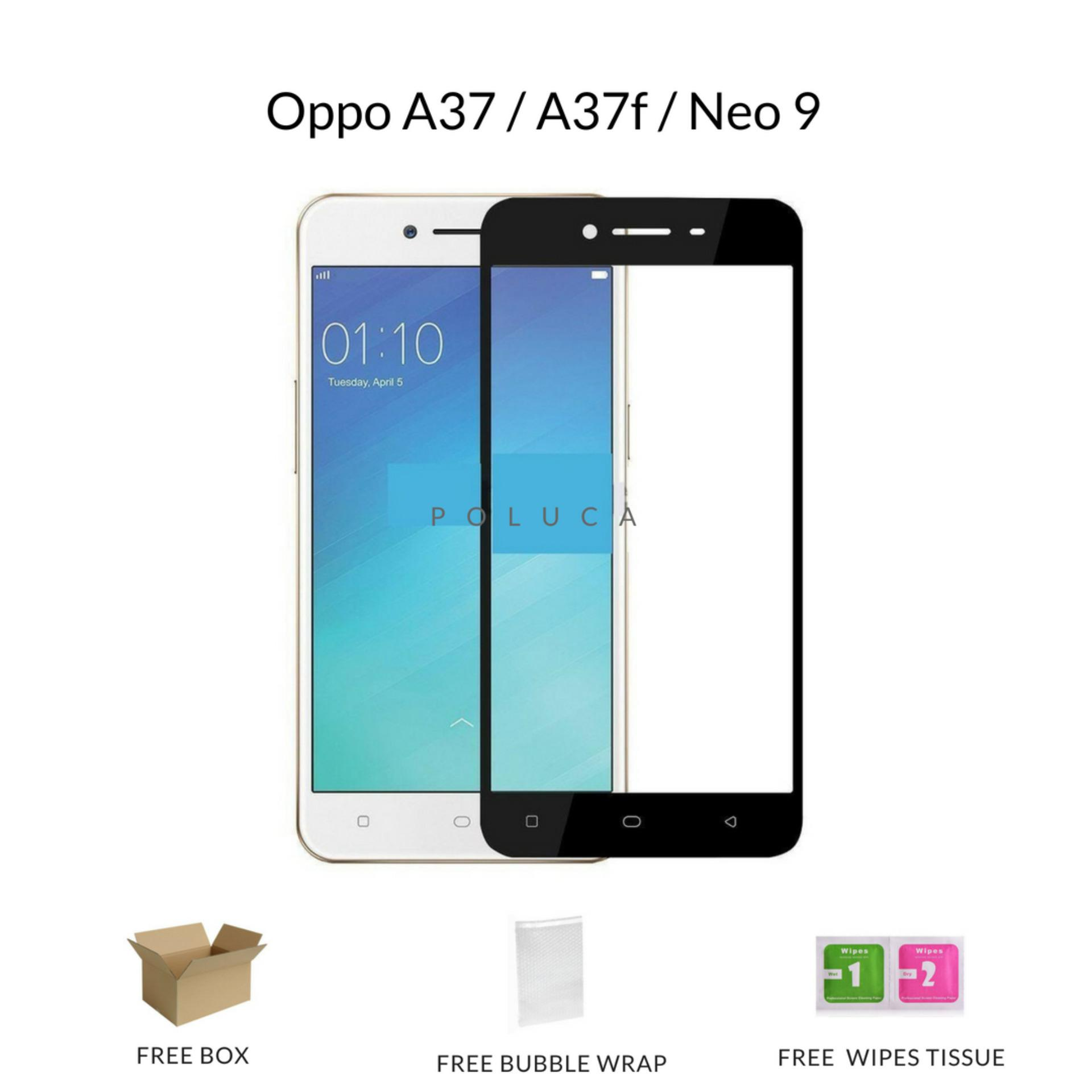 Poluca Tempered Glass Screen Protector Full Cover Warna For Oppo A37 / A37f / Neo 9