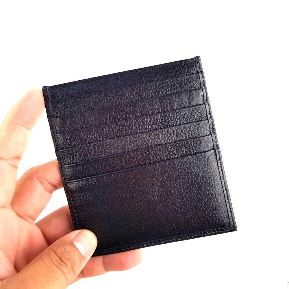 Detail Gambar Dompet Kartu Nama ATM Kulit Asli Murah - BB GNS BLACK Terbaru