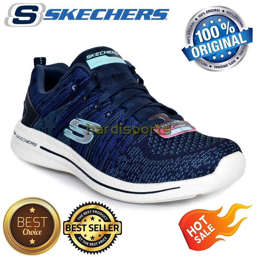 Sepatu Running Sneaker Skechers Burst 2.0 12651-NVTQ - Navy Torquoise fd29fef1d8