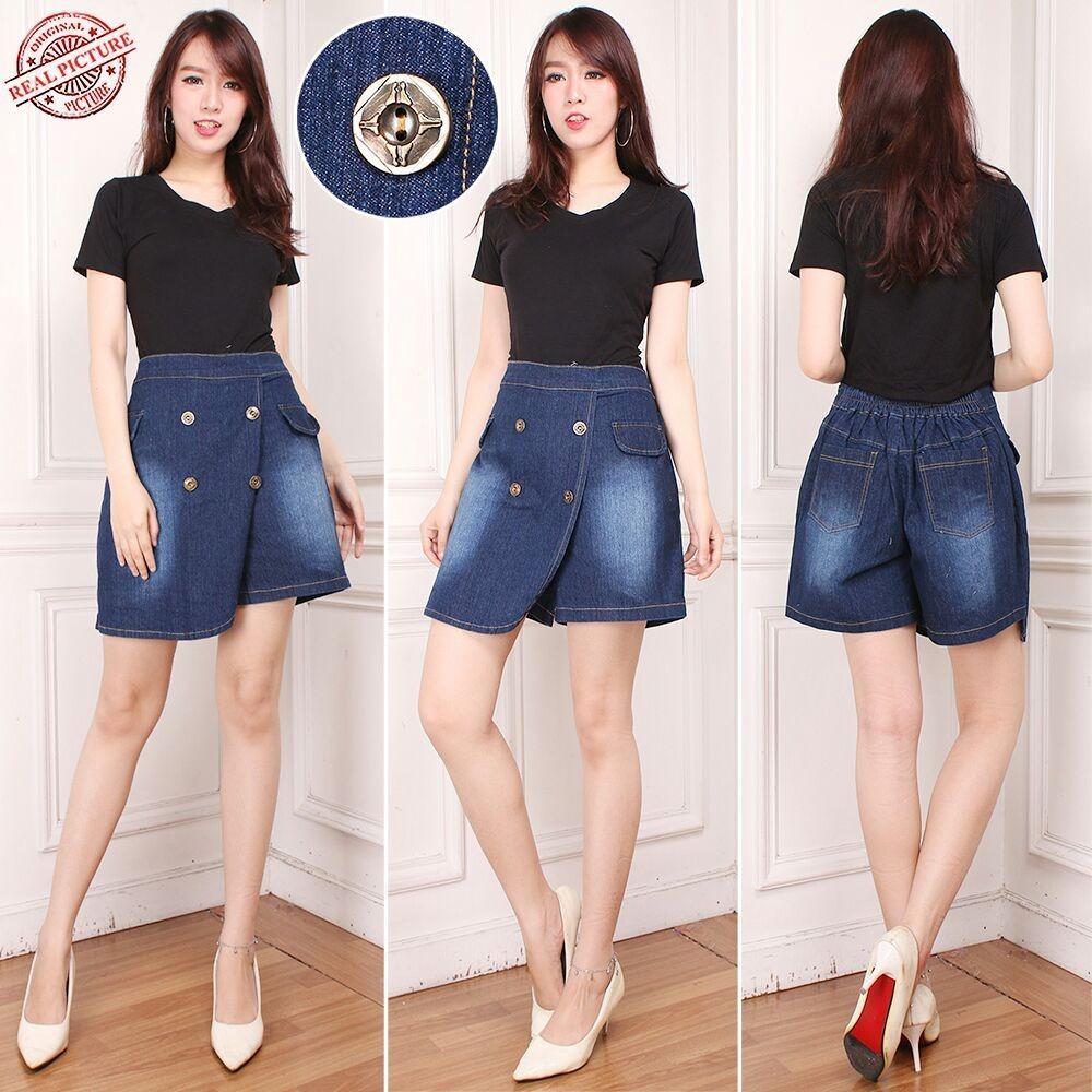 Toko Sb Collection Celana Pendek Rose Rok Jeans Hotpants Jumbo Wanita Sb Collection Online
