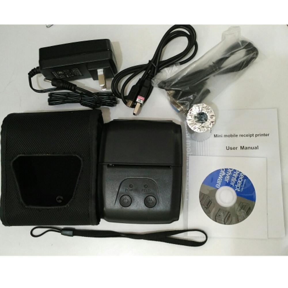 Eppos Epp200 Mobile Mini Printer Bluetooth 58mm Hitam Indonesia Thermal Ep5805ai Android Ada Indikator Baterai