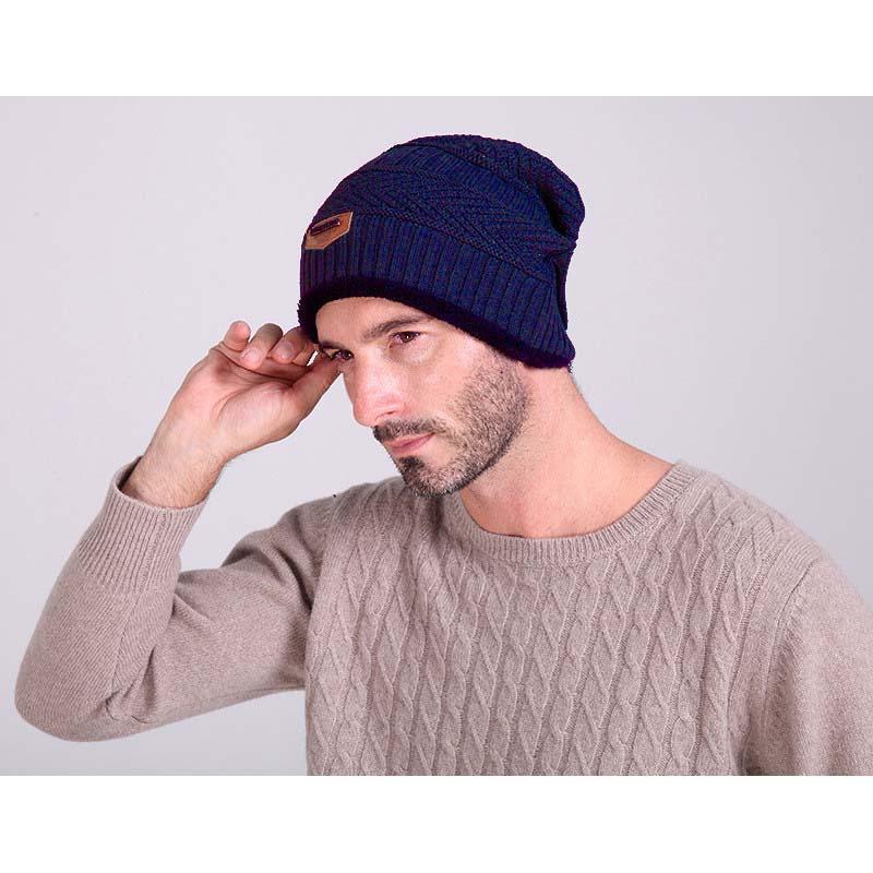 Topi Kupluk Wool Winter Hat Beanie - Biru - 4