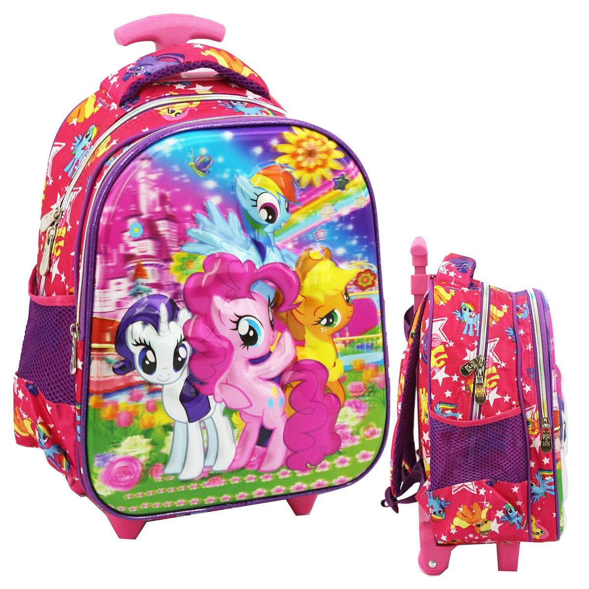 Jual Onlan My Little Pony 5D Timbul Hologram Tas Trolley Anak Sekolah Tk Import Ori