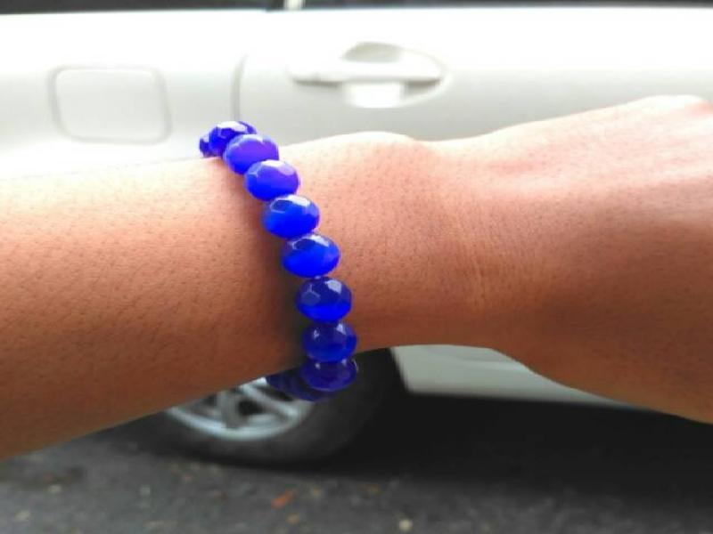 Gelang Batu Mata Kucing Warna Biru ... Zena _Shop