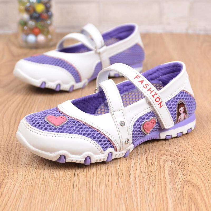Zuucee Gadis Hollow Sepatu Putri Bernapas Slip-Ons Sepatu Ringan Olahraga Shoes?free Shipping? - 4