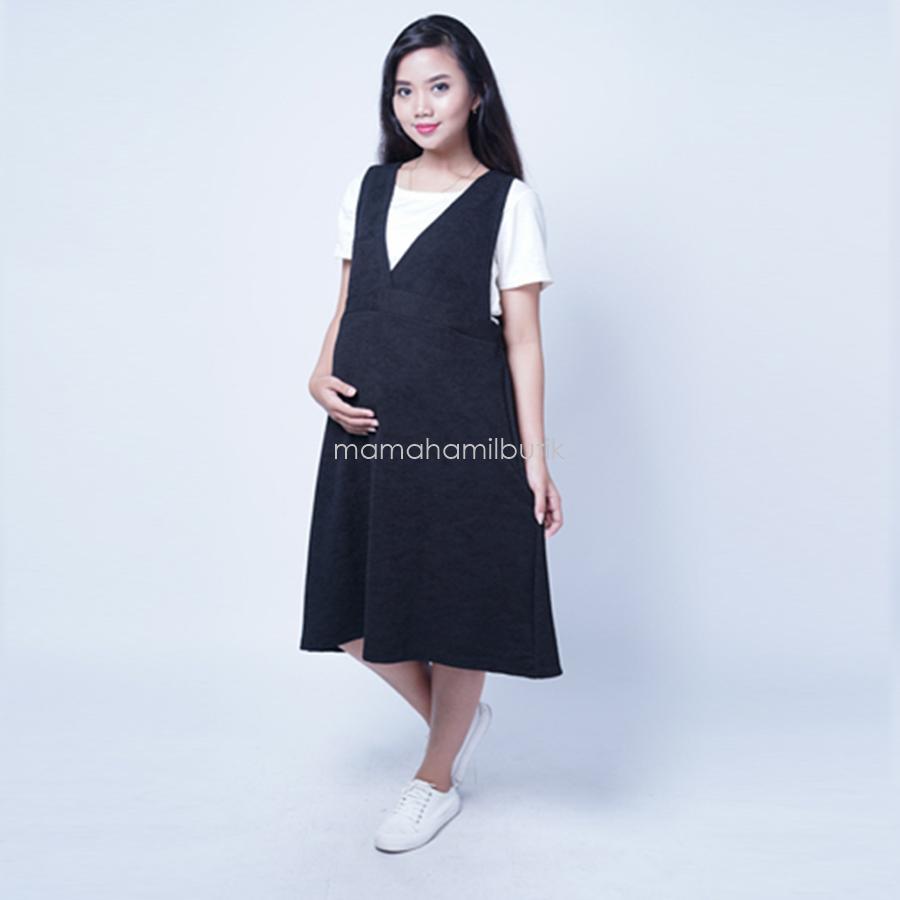 Fitur Mama Hamil Dress Overal Menyusui Zarrah Baju Celana Jumbo Detail Gambar Big Size Atasan Kemeja Murah