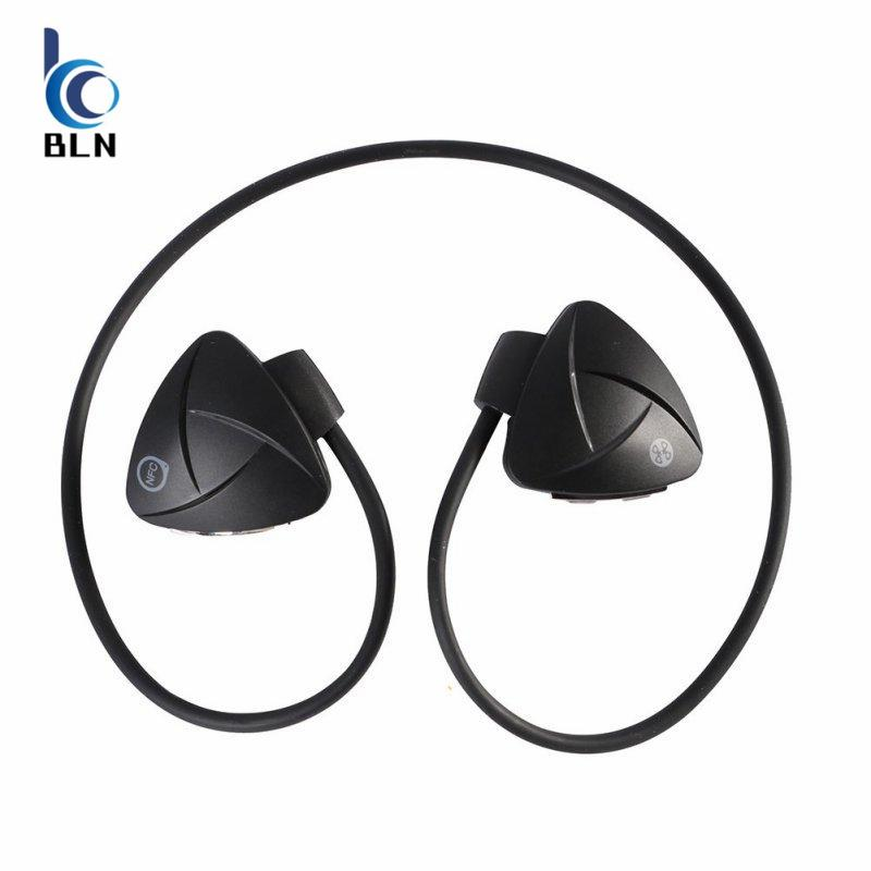 Beli 【Bln Tech】Sh03D Wireless Bluetooth 4 Headset Stereo Nfc Handsfree Sport Earphone Mp3 Media Player Voice Reminder Sweatproof Self Timer Black Murah