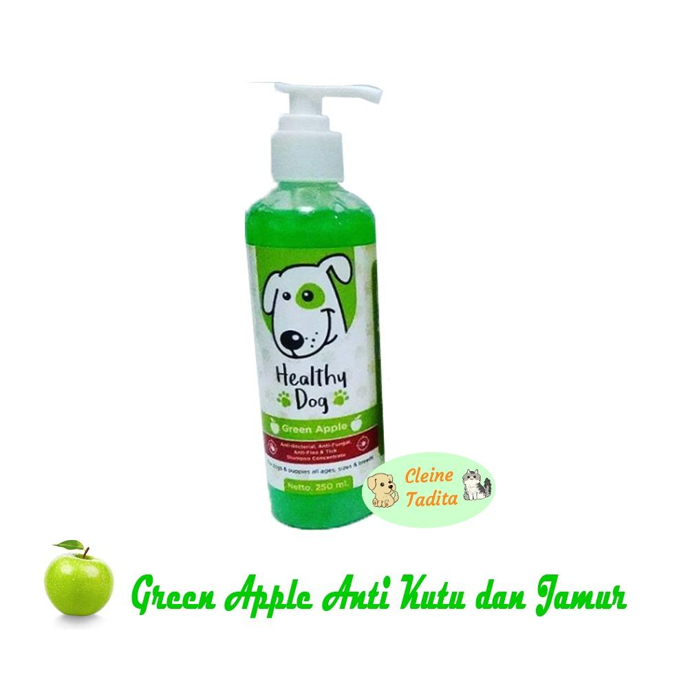 Spesifikasi Shampoo Concentrate Healthy Dog Green Apple Anti Kutu Jamur Merk Cleine Tadita