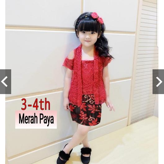 Detail Gambar NusantaraHeritage Baju Anak Setelan 2 in 1 pakaian Kebaya Batik Pesta Balita Batita Anak