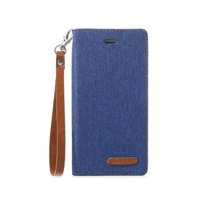 Mercury New Canvas Flip Case for Apple iPhone 8 Plus - Blue
