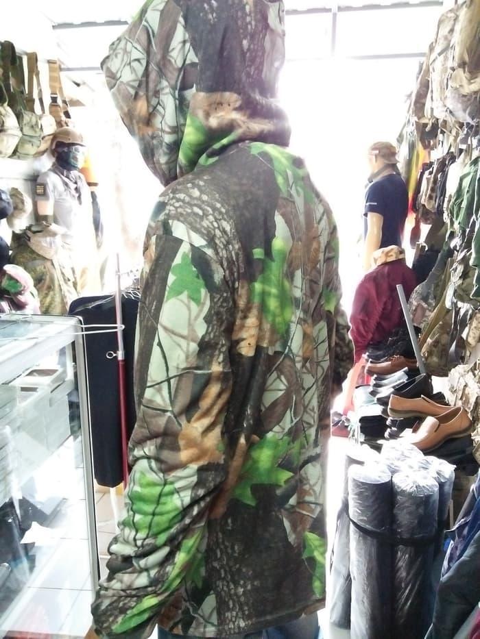 Baju kaos hoodie camo / perbakin - Loreng Camo Oak Tree Hunting Fast .