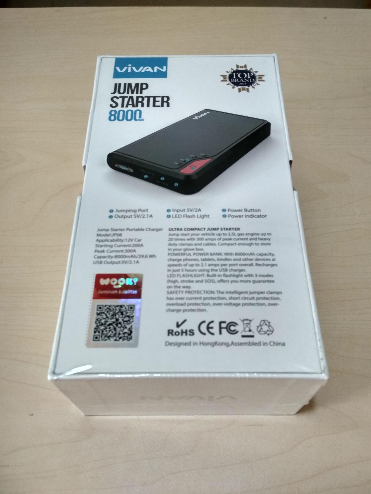 ... Power Bank VIVAN Jump Starter JP08 8000 mAh - 3