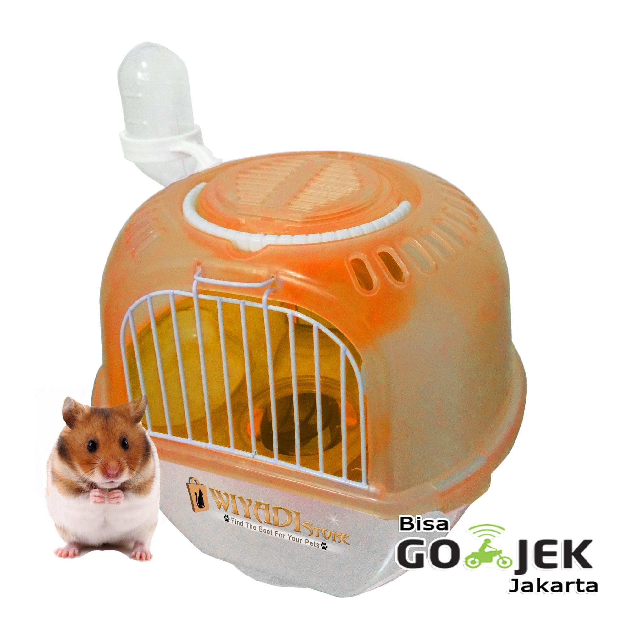 WiyadiStore - Kandang Hamster Travel Bag Model Apel - Orange