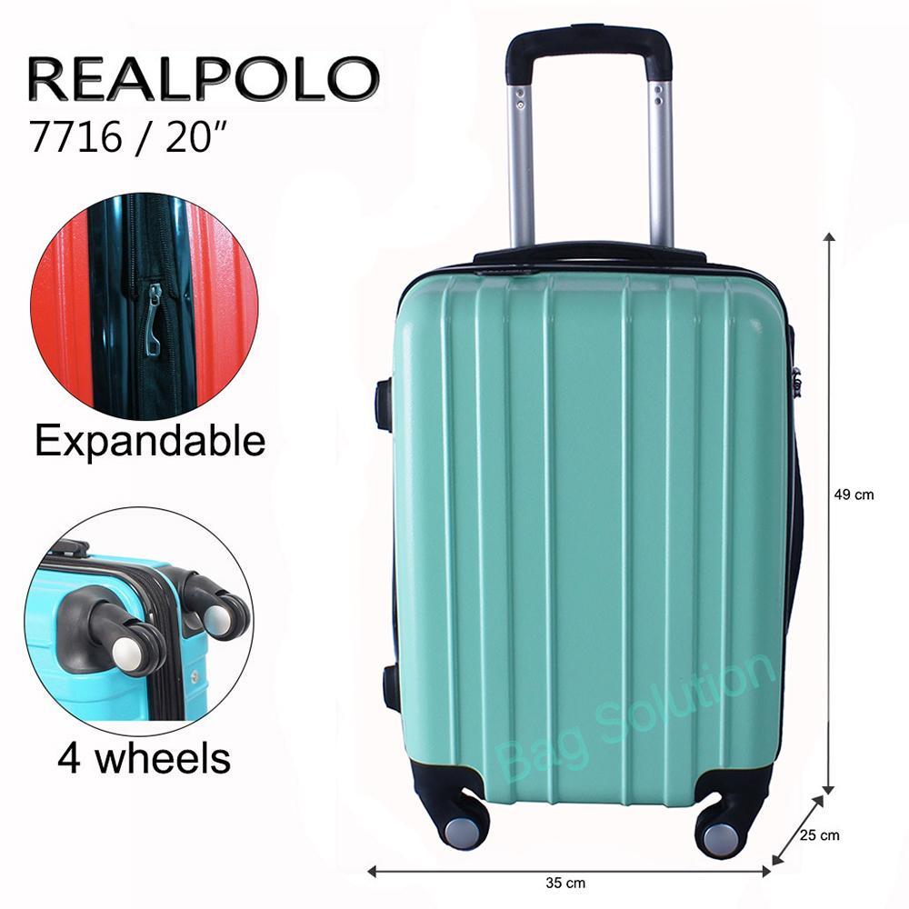Real Polo Tas Koper Softcase Expandable 2 Roda 569 24 Inch Coffee Passport 4 10121854 Hardcase Fiber Abs Putar Ggaf Size 20