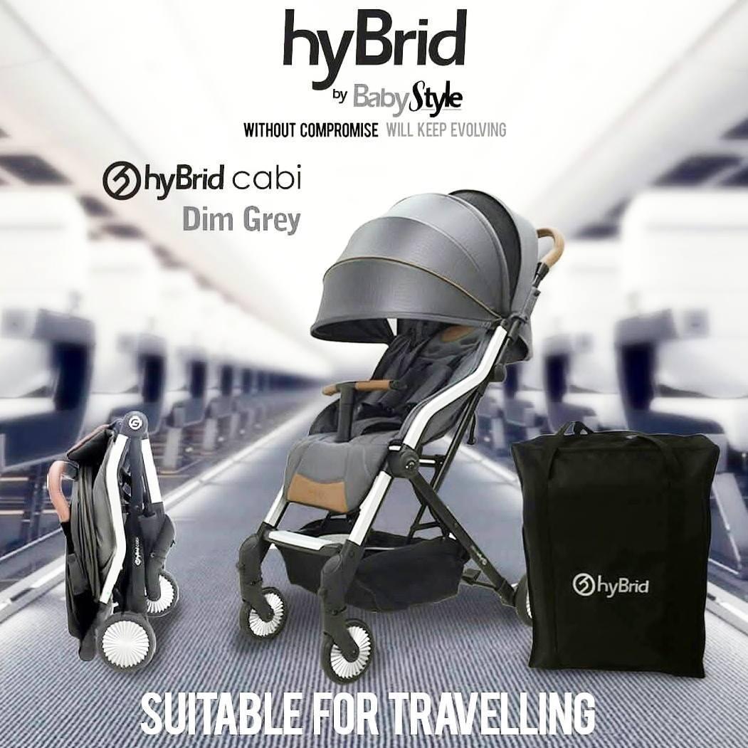 Hybrid Cabi Stroller Bayi Dim Grey Free Rain Cover Hybrid Diskon 40