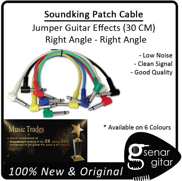 Original Kabel Patch Jumper Efek Gitar Patch Cable Guitar Right Soundking 30 Cm