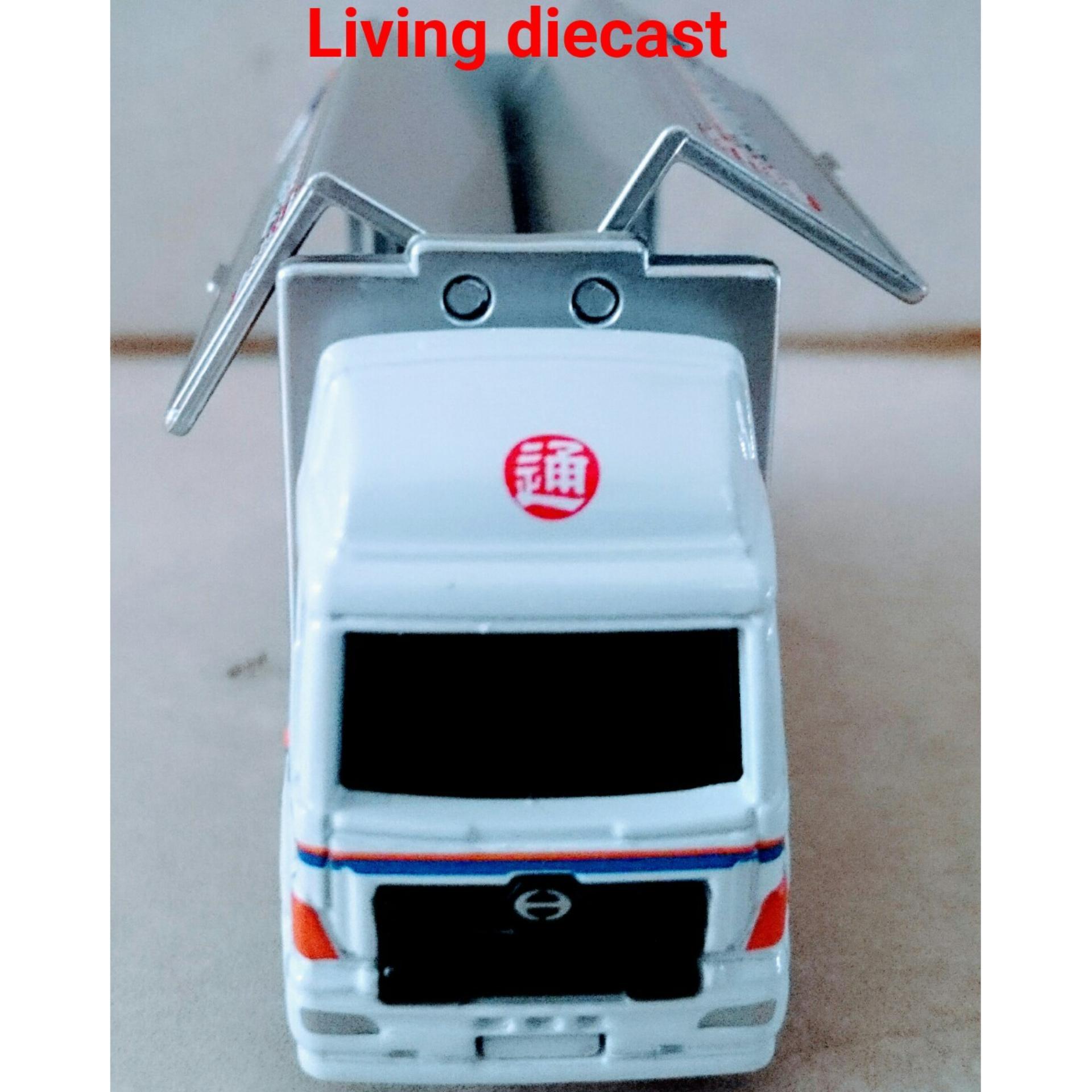 Fitur Diecast Truk Hino Profia Nippon Express Tomica Reguler Dan Datsun Go Blue