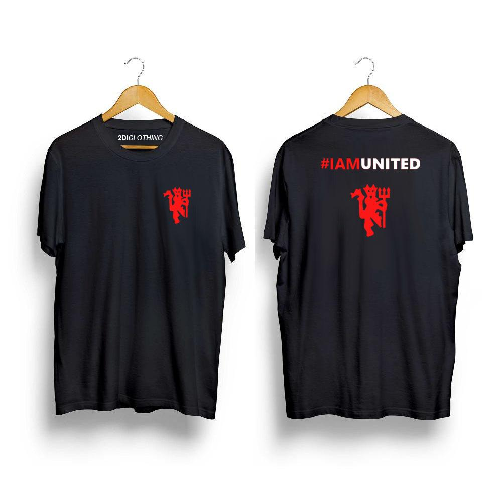 Kaos Distro IAM UNITED - Tshirt IAM UNITED - Premium Catton Warna Hitam - Putih -