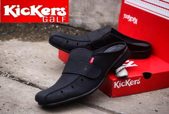 Sepatu Sendal Haji dan Umroh Kickers Sepatu Sendal Kulit Pria Breathable  (Coklat hitam tan) d72ea7a315